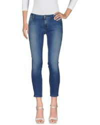 TRUE NYC - Denim Trousers - Lyst