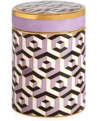 Jonathan Adler Versailles Porcelain Geometric Canister - Purple