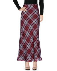 MICHAEL Michael Kors - Plaid Silk-voile Maxi Skirt - Lyst