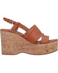 cf7aad44c67 Lyst - Ralph Lauren Collection Open Toe Platform Wedge Espadrille ...