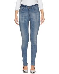 Ichi - Denim Trousers - Lyst