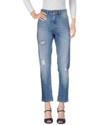 Manila Grace - Denim Pants - Lyst