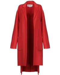 e576594a Diane von Furstenberg Darcy Wool-Blend Coat in Red - Lyst