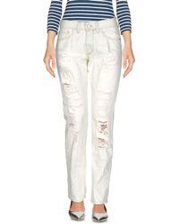Boutique De La Femme - Denim Trousers - Lyst