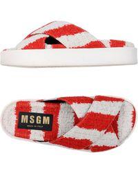 MSGM - Crisscross Wrap Sandals - Lyst