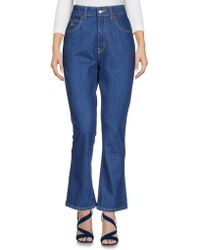 Attico - Denim Trousers - Lyst