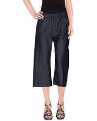 Nine:inthe:morning - Denim Capris - Lyst