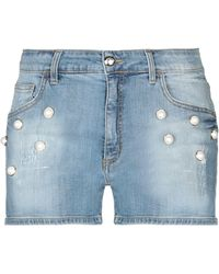 Blumarine - Denim Shorts - Lyst