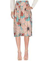 Ottod'Ame - 3/4 Length Skirt - Lyst