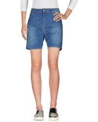 Scee By Twin-set - Denim Bermudas - Lyst