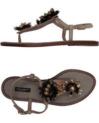 Dolce & Gabbana - Toe Post Sandal - Lyst