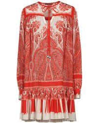 Alexander McQueen - Short Dress - Lyst