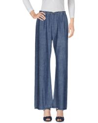 Raquel Allegra - Denim Pants - Lyst