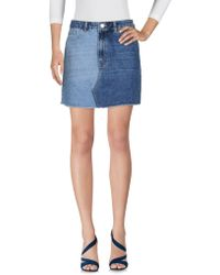 French Connection - Denim Skirt - Lyst
