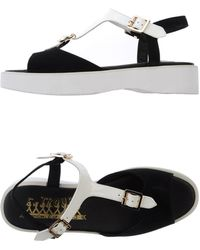 F-Troupe - Monochrome Leather Sandals - Lyst