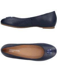 Armani Jeans - Ballet Flats - Lyst
