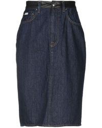 559c890cd2b8 Evisu Denim Skirt in Blue - Lyst