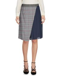Blue Les Copains - Knee Length Skirts - Lyst