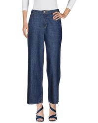 American Vintage - Denim Trousers - Lyst