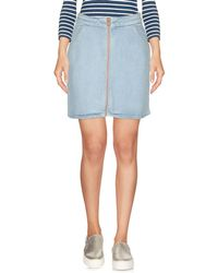 Superdry - Denim Skirt - Lyst
