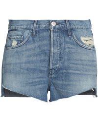 3x1 Faded Denim Shorts Mid Denim