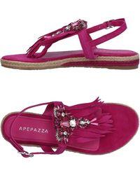 Apepazza - Toe Strap Sandals - Lyst