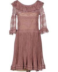 Alberta Ferretti - Short Dress - Lyst