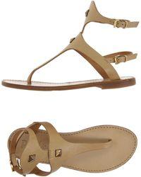 Doriamaria - Toe Strap Sandals - Lyst