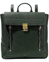 3.1 Phillip Lim - Woman Pashli Textured-leather Backpack Dark Green - Lyst