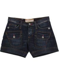 John Galliano - Denim Shorts - Lyst