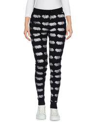 Zoe Karssen - Metallic Printed Cotton-blend Jersey Track Trousers - Lyst
