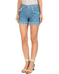 Boutique Moschino - Denim Shorts - Lyst