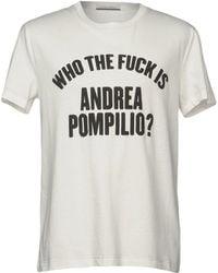 Andrea Pompilio - T-shirt - Lyst