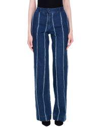 Blu Byblos - Denim Trousers - Lyst