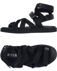 d2b43dfe506a0 Lyst - Msgm Strapped Sandals in Black for Men