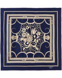 Lanvin Square Scarf - Blue