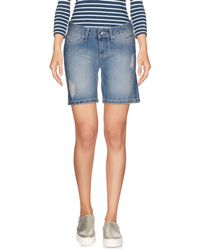 Refrigue - Denim Bermudas - Lyst