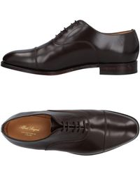Alfred Sargent Naval Plain Toe Oxfords in Black for Men - Lyst e2667b4431ed