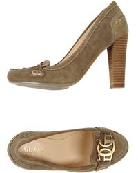 Guess - Moccasins With Heel - Lyst