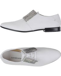 CoSTUME NATIONAL - Embellished Leather Shoes - Lyst