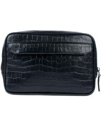 deaf5a71071 Lyst - Armani Armani Logo Tumbled Card Holder in Black for Men