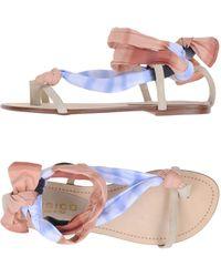 Fisico - Toe Post Sandal - Lyst