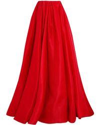 Reem Acra - Long Skirt - Lyst