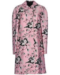 Diane von Furstenberg - Amana Printed Wool And Silk-blend Coat - Lyst