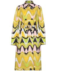 Emilio Pucci - Printed Cotton-blend Canvas Trench Coat - Lyst