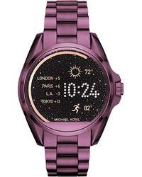 Michael Kors - Bradshaw Plum-tone Smartwatch - Lyst