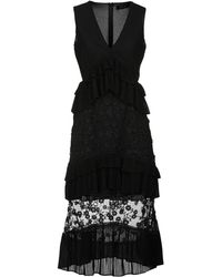 Lost Ink - 3/4 Length Dress - Lyst