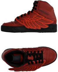 Jeremy Scott for adidas - Jeremy Scott Leather High-top Trainers - Lyst