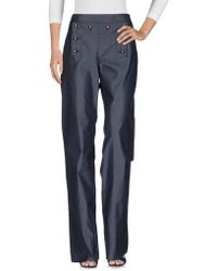 Ferragamo - Denim Trousers - Lyst