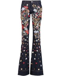 Alice + Olivia Denim Pants - Blue